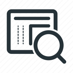 analytics, analyze, find, search, web, website icon
