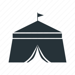 big tent, camp, camping, flag, tent icon