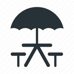 camp, camping, holiday, rest, seaside, travel, umbrella icon