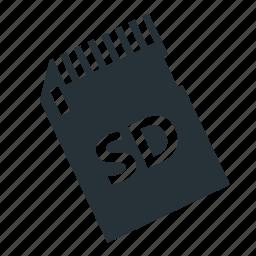 camera, card, flash, memory card, sd card icon
