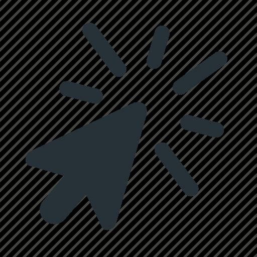click, cursor, gesture, press, submit, use, website icon