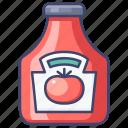 ketchup, sauce, tomato icon