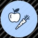 apple, bio, eco, fruits, vegan, vegetarian icon