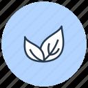 bio, eco, leaves, natural, vegan icon