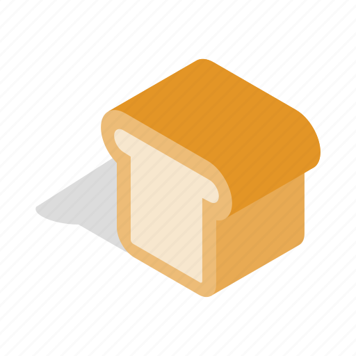 Bakery, bread, food, healthy, isometric, loaf, nutrition icon - Download on Iconfinder