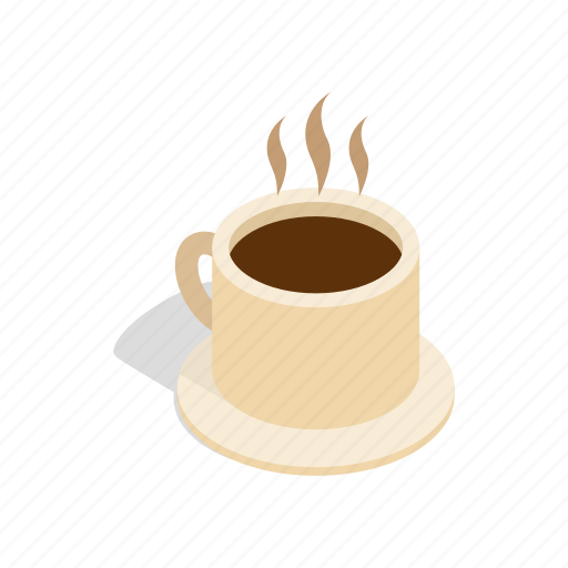 cafe, coffee, cup, drink, espresso, isometric, morning icon