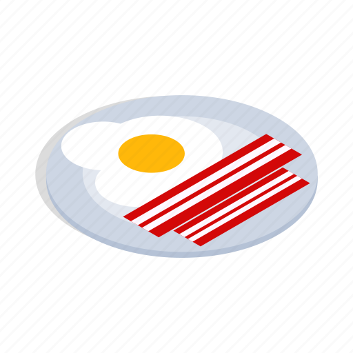 Breakfast, cooking, eggs, food, isometric, scrambled icon - Download on Iconfinder