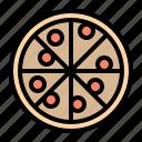 fast food, pizza, italian, meal, food