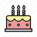 bakery, birthday, cake, celebration, food, sweet icon