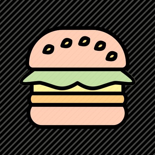 burger, fast food, hamburger icon