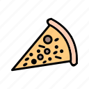 cheese, fast, food, meal, piece, pizza, slice icon