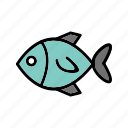 animal, fish, healthy, ocean, seafood icon