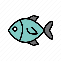 animal, fish, healthy, ocean, seafood icon
