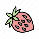food, fruit, healthy, strawberries, strawberry, sweet icon