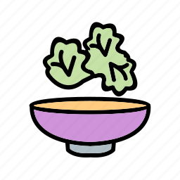 cucumber, lettuce, salad, vegetables icon