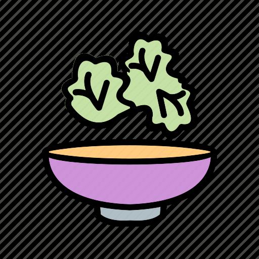 cucumber, food, green, lettuce, salad, vegetables icon