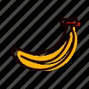banana, food, fruit, healthy icon