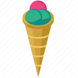 ball, cone, cream, dessert, ice, sweet icon