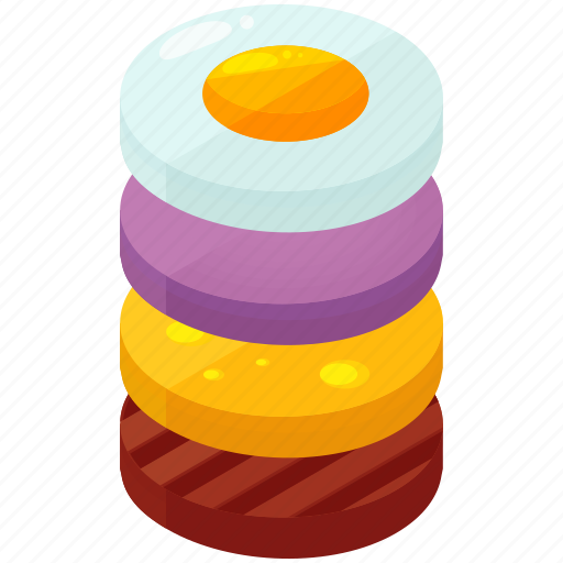 burger, cheese, contents, egg, food, meal, meat icon