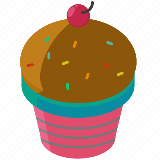 bakery, cherry, cupcake, desserts, food, sweets icon