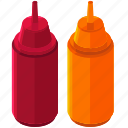 food, ketchup, meal, mustard, sauce icon