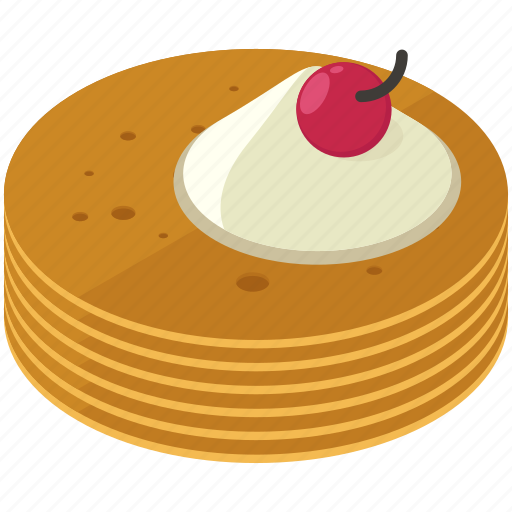 cherry, desserts, food, meals, pancakes icon