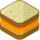 cheese, desserts, food, meals, sandwich icon