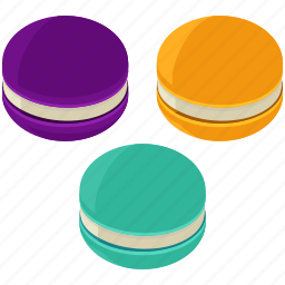 desserts, food, macaroons, meals, sweets icon