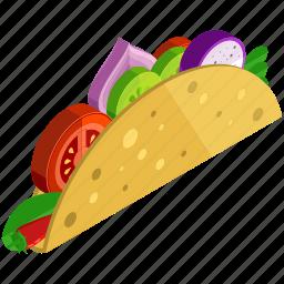 desserts, food, meals, onion, taco, tomato icon