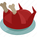 bird, food, meal, thanksgiving, turkey icon