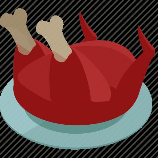 bird, food, meal, thanksgiving, turkey icon