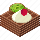 cherry, desserts, food, kiwi, meals, waffels icon