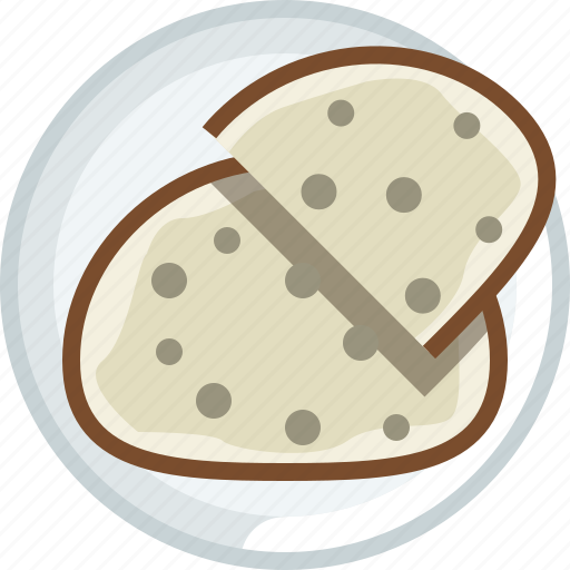 bakery, bread, cooking, dish, food, plate, yumminky icon