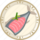 cooking, dish, fish, food, salmon, tuna, yumminky icon