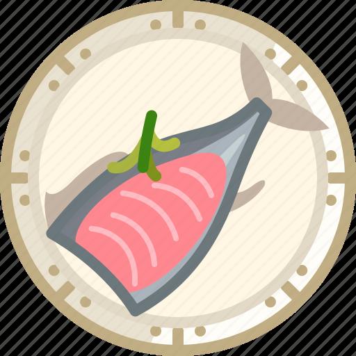 cooking, dish, fish, food, salmon, tuna, yumminky icon