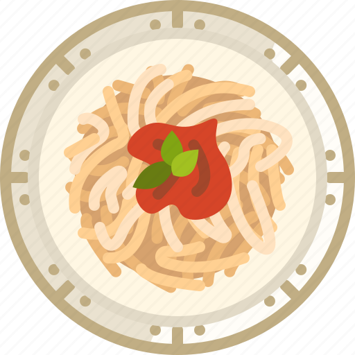cooking, dish, food, pasta, plate, spaghetti, yumminky icon