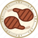 cooking, dish, food, grill, meat, ribs, yumminky icon
