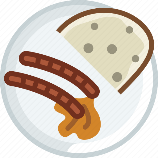 bread, cooking, dish, food, grill, sausages, yumminky icon