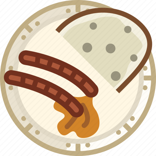 Bread, cooking, dish, food, grill, sausages icon - Download on Iconfinder