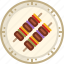 bbq, cooking, dish, food, grill, skewer, yumminky icon