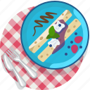 food, gastronomy, meal, pancake, plate, sweet, tablecloth icon