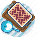 cake, food, gastronomy, meal, pie, plate, tablecloth icon