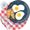 breakfast, egg, food, gastronomy, meal, plate, tablecloth
