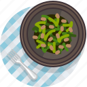 food, gastronomy, lunch, meal, plate, tablecloth, vegetable icon