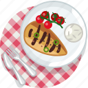 cooking, fish, food, grill, meal, restaurant, tablecloth icon