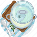 cooking, fish, food, meal, restaurant, soup, tablecloth icon