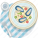 clam, cooking, food, meal, restaurant, seafood, tablecloth icon