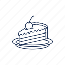 bake, cake, dessert, pie icon icon