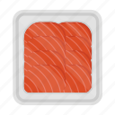 fillet, fish, food, meal, plate, salmon, slice icon