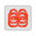 bell pepper, food, fresh, meal, plate, slice, vegetable icon